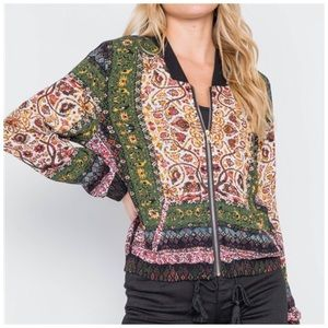 Jill Marie Boutique Jackets & Coats - Fall Floral bomber jacket S, M or L NWT